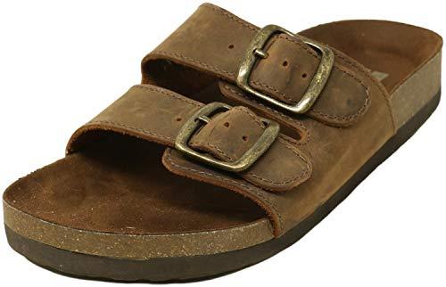 WHITE MOUNTAIN Shoes Helga Women's Sandal, Brown/Leather, 8 M