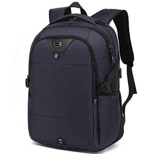 Laptop Backpack 17 Inch Water Resistant Backpacks Durable College Travel Daypack Anti Theft with USB Charging Port Best Gift for Men Women Boys Girls Students(17 Inch, Dark Blue)