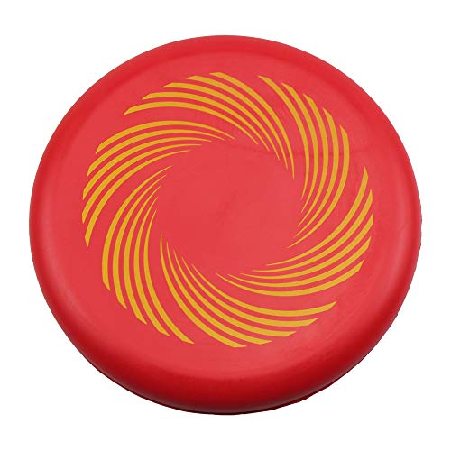 ZZEWINTRAVELER PU Soft Frisbee Parent-Child Outdoor Sports Game Toy Frisbee Golf Discs (red)