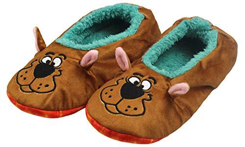 Scooby Doo Slippers With Tie Dye Mystery Machine No-Slip Sole Slipper Socks For Women Men (L/XL)