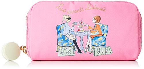 LeSportsac Les Secrets Laduree Time For Tea Rectangular Cosmetic Bag, Macaron Zip Pull, Style 6511/Color G608