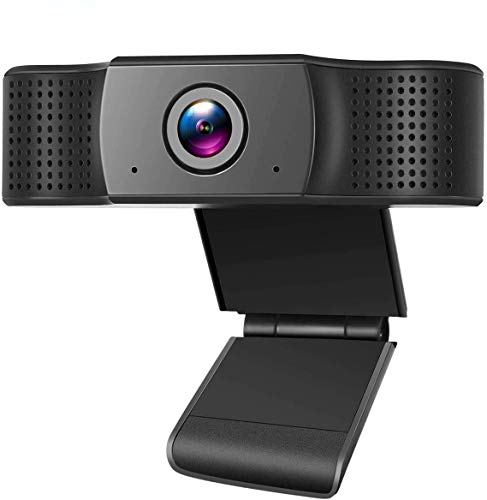 Webcam with Microphone,1080P PC Focus Streaming Webcam Compatible with Most of Device & App,Plug and Play Webcam for Conference and Laptop/Desktop Mac