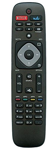 Smartby URMT39JHG003 Remote Control Works for Philips TV 39PFL2608/F7 46PFL3908/F7 32PFL4908/F7 46PFL3608/F7 29PFL4908 50PFL3908, 50PFL3908/F7 55PFL4909, 55PFL4909/F7 58PFL4609, 58PFL4609/F7