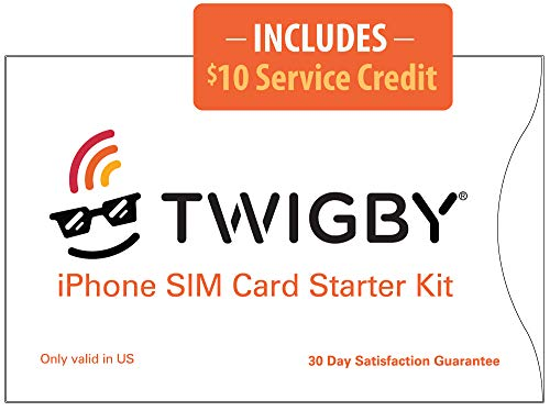 Twigby Unlocked iPhone SIM Card Kit. Compatible with Sprint/Verizon Unlocked iPhone 5s, SE (1st Generation), 6, 6 Plus, 6s, 6s Plus, 7, 7 Plus. Only from Twigby.