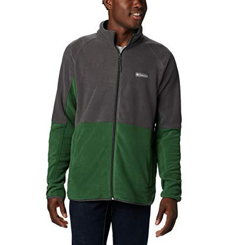 Columbia Men's Basin Trail Fleece Full Zip, Green, Shark ,Small