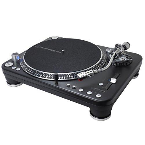 Audio-Technica ATLP1240USBXP Direct-Drive Professional DJ Turntable (USB & Analog), Black, Selectable 33 -1/3, 45, and 78 RPM Speeds, High-torque, Multipole Motor, Convert Vinyl to Digital