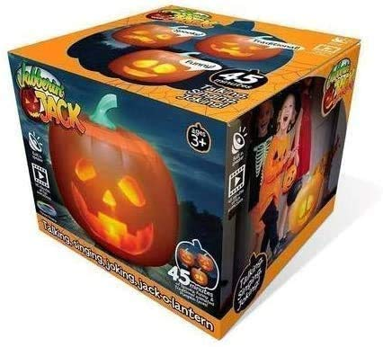 FRC0LT 2020 Halloween The Talking Animated Pumpkin Built-in Projector & Speaker, Three Unique Characters & Plug'n Play, Talking/Singing/Joking Pumpkin for Halloween Party Front Porch (1PACK)