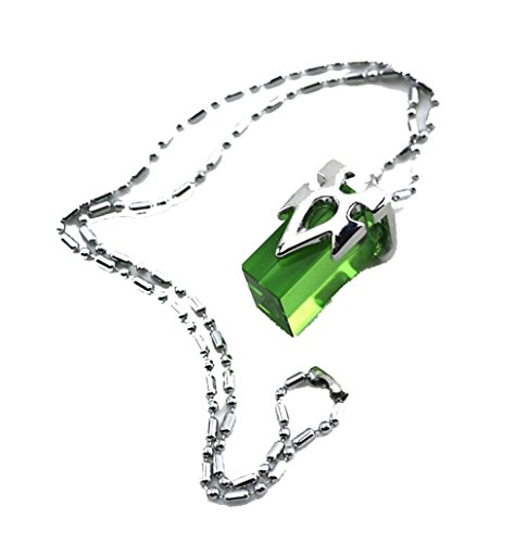 Touirch Sword Art Online SAO Crystal Charms Kirito Asuna's Yui Cosplay Necklace (Green)
