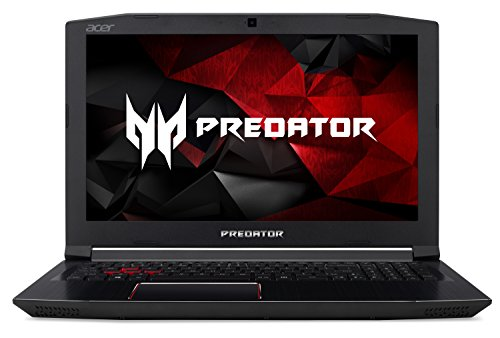 Acer Predator Helios 300 Gaming Laptop, 15.6' Full HD IPS, Intel i7 CPU, 16GB DDR4 RAM, 256GB SSD, GeForce GTX 1060-6GB, VR Ready, Red Backlit KB, Metal Chassis, Windows 10 64-bit, G3-571-77QK