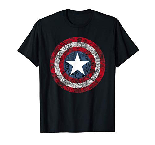 Marvel Captain America Avengers Shield Comic T-Shirt