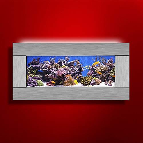 Vandue Aussie Aquariums 2.0 Wall Mounted Aquarium - Skyline Silver Stain