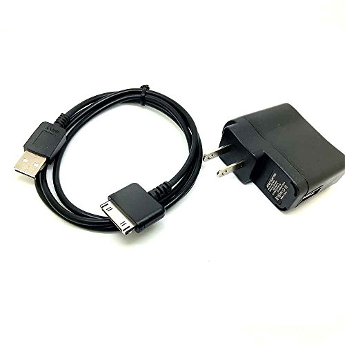 PINGSX 2IN1 USB Data SYNC & Charger Cable for SANDISK Sansa E200 E250 E260 E270 E280 C200 Sansa Fuze (Cable+Charger)