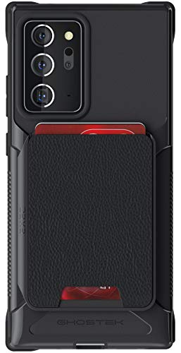 Ghostek Exec Note 20 Ultra Wallet Case with Credit Card Holder and Magnetic for Cars Magnet Mounts Detachable Leather Pocket Protective Phone Cover for 2020 Galaxy Note20 Ultra 5G (6.9 Inch) - (Black)