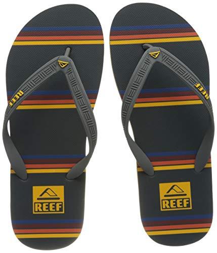 Reef Men's Seaside Prints Sandal, Red Orange, 13