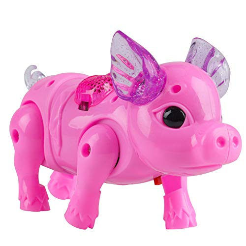 Dergo Kid Toys Walking Singing Musical Light Pig Electric Toy with Leash Interactive