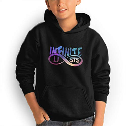 Tougouqus Infinite~Lists Fashionable Adolescent Children Boys and Girls Hoodies M Black