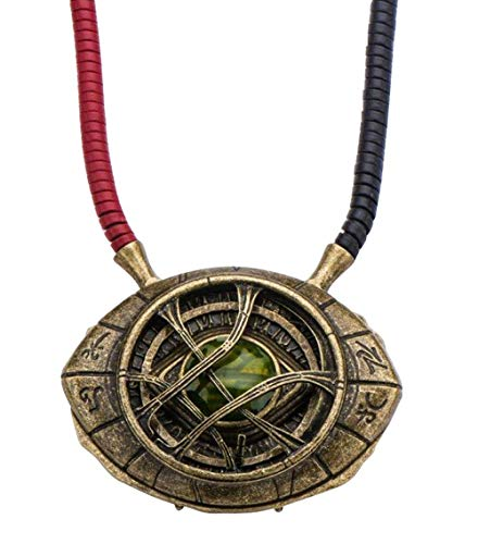 Marvel's Doctor Strange Eye of Agamotto Replica Necklace | Officially Licensed Marvel Collectible Prop | Premium Quality Movie Replicas | Superhero Accessory Perfect For Cosplay, Costumes, Halloween