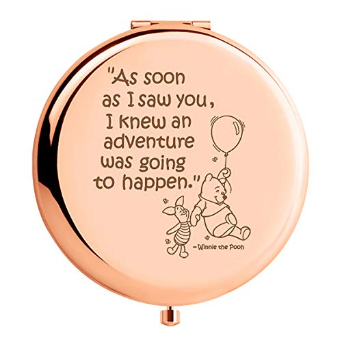 WIEZO-USA As Soon As I Saw You I Knew an Adventure was Going to Happen,Winnie The Pooh Quote Mirror Gift