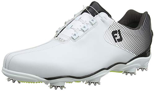 FootJoy Men's D.N.A. Helix Boa-Previous Season Style Golf Shoes White 12 M Black, US