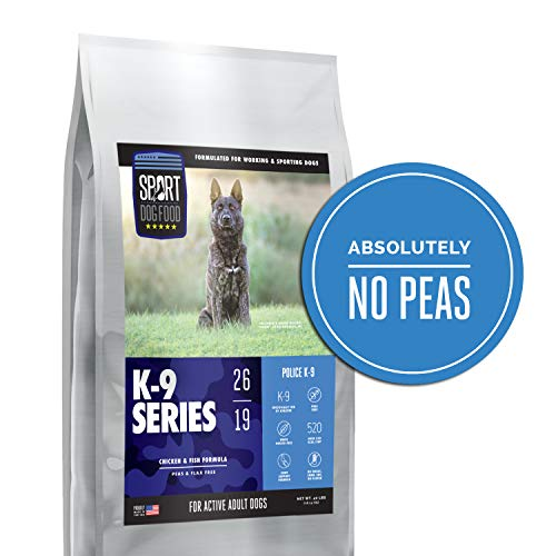 K-9 Series Police K-9 Chicken and Fish Performance Formula, Peas and Flax Free Dry Dog Food, 40 lb. bag
