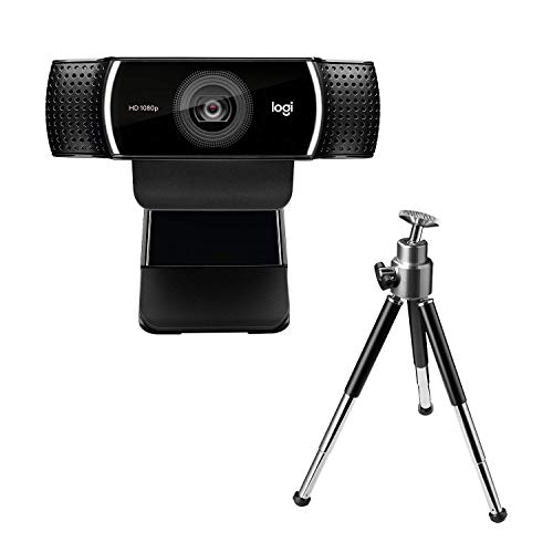 Logitech C922 Pro Stream Webcam 1080P Camera for HD Video Streaming & Recording 720P at 60Fps with Tripod Included