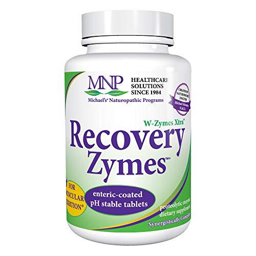 Michael's Naturopathic Programs Recovery Zymes - 180 Enteric Coated pH Stable Tablets - Proteolytic Enzyme Supplement, Supports Bodys Natural Inflammatory Response - Kosher - 60 Servings