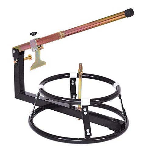 Goplus Tire Changer Stand, Change Tyre Wheel for 16' Rims or Larger Bicycle Motorcycle, Adjustable Tire Changing with Bead Breaker (Black)