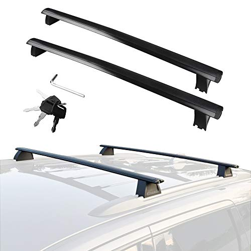 YITAMOTOR Cross Bars Roof Racks Compatible for 2011-2020 Jeep Grand Cherokee, Rooftop Luggage Crossbars with Anti-theft Locks Carrying Cargo Carrier Bag Canoe Kayak Bike