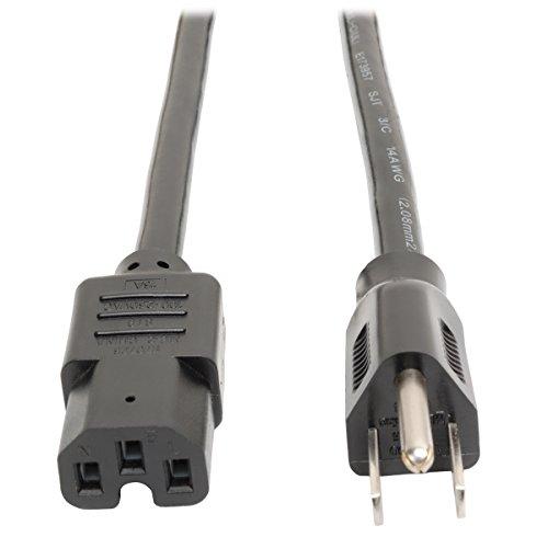 Tripp Lite Heavy Duty Power Cord, 15A, 14AWG (NEMA 5-15P to IEC-320-C15) 8-ft. (P019-008)