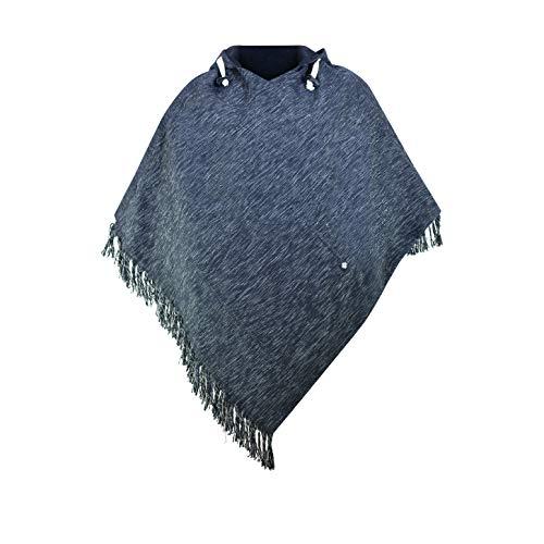 virblatt - Poncho Men | 100% Cotton | Mexican Poncho Baja Hoodie Mens Poncho Hooded Pancho Mexican Aztec Cape - Abajo BD L-XL