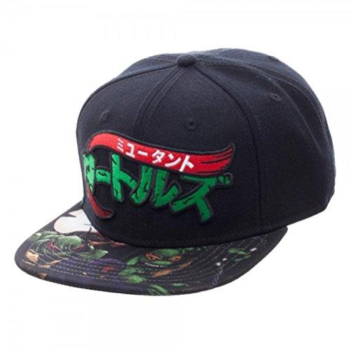 Teenage Mutant Ninja Turtles Manga Sublimated Bill Snapback Baseball Hat Black