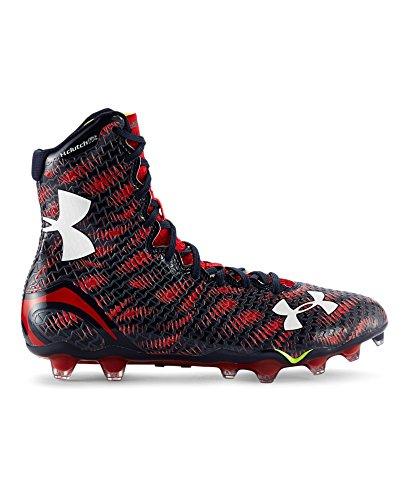 Under Armour Men's UA Highlight MC Sneaker (9, Midnight Navy/Team red)