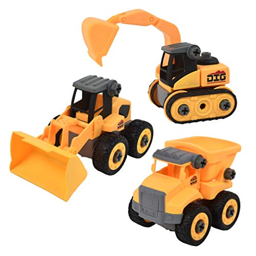 Sunny Days Entertainment Take Apart Construction Vehicle – STEM Learning Toy Truck | Receive Either The Dump Truck Front End Loader or Excavator | Color May Vary – Maxx Action