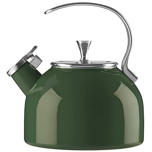 Kate Spade New York Kate Spade Kitchen Clover Kettle, 3.5 LB, Green