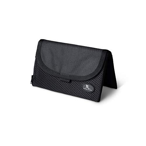 Running Buddy Magnetic Buddy Pouch: Magnet Pocket Pouches for Cell Phones, iPhone & Other Gear - Beltless Runners Waist Bag for Running, Jogging, Hiking & Cycling:Black, SMALL (5 7/8' x 4' SMALL)