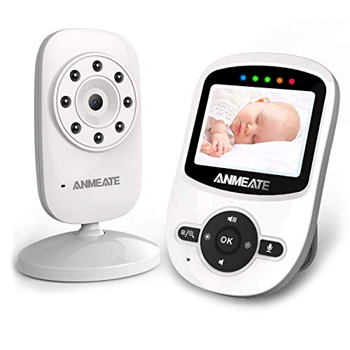 Video Baby Monitor with Digital Camera, ANMEATE Digital 2.4Ghz Wireless Video Monitor with Temperature Monitor, 960ft Transmission Range, 2-Way Talk, Night Vision, High Capacity Battery