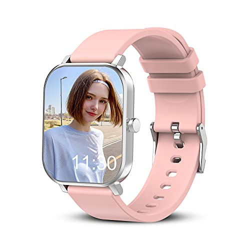 Smart Watch for Android Phones Compatible with iPhone Samsung, 1.69' Full Touch Screen Smartwatch with Heart Rate Monitor, Sleep Tracker, Message Call Reminder, Stopwatch, Fitness Tracker for Women