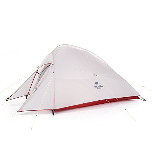 Naturehike Cloud-Up 1, 2 and 3 Person Lightweight Backpacking Tent with Footprint - 20D 3 Season Free Standing Dome Camping Hiking Waterproof Backpack Tents