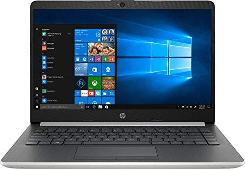 HP Newest 2019 Flagship 14' Laptop Intel Pentium Gold 4GB Ram 128GB SSD Ash Silver Keyboard Frame