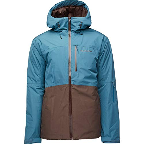 Flylow Men's Cobra Jacket - Synthetic Down Insulated Waterproof Storm Shell (Quail/Bison, M)