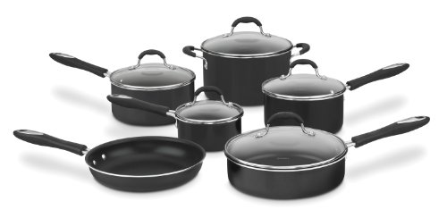 Cuisinart Advantage Nonstick 11-Piece Cookware Set, Black