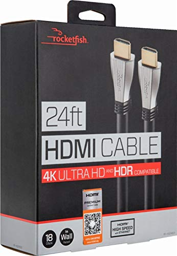 Rocketfish - 24' In-Wall HDMI Cable