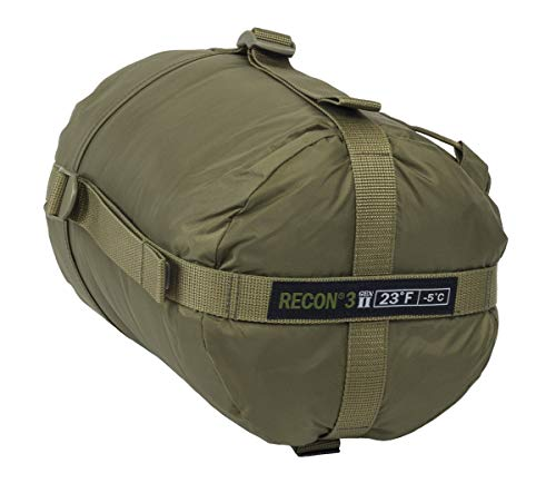 Elite Survival Systems Recon 4 Sleeping Bag, Coyote Tan, Rated to 14 Degrees Fahrenheit (RECON4-T)