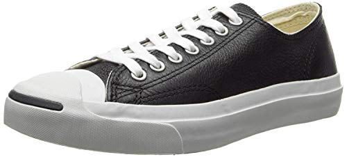 Converse Jack Purcell Leather, Black White, Size 5.5