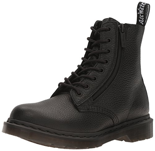 Dr. Martens Womens 1460 Pascal with Zip Ankle Fashion Closed Toe Boots - Black - 8.5