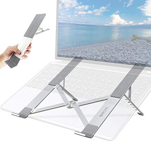 BeTime Laptop Stand Portable, Computer Stand, Laptop Stand Aluminum Adjustable, Travel Notebook Stand Compatible with 11.6-17.5' MacBook Pro Stand