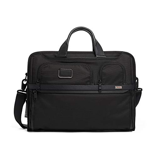 Tumi Alpha 3 Compact Large Screen Laptop Brief Black One Size