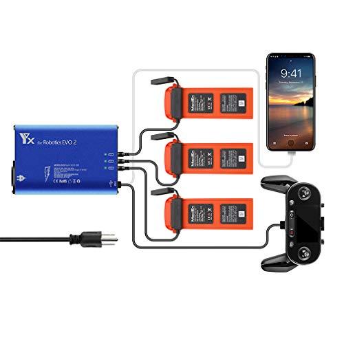 Hanatora Battery Charger for Autel Robotics EVO 2/II, EVO II Pro,EVO II Dual Drone and Remote Conteller,Rapid Multi Parallel Charging Hub Accessories
