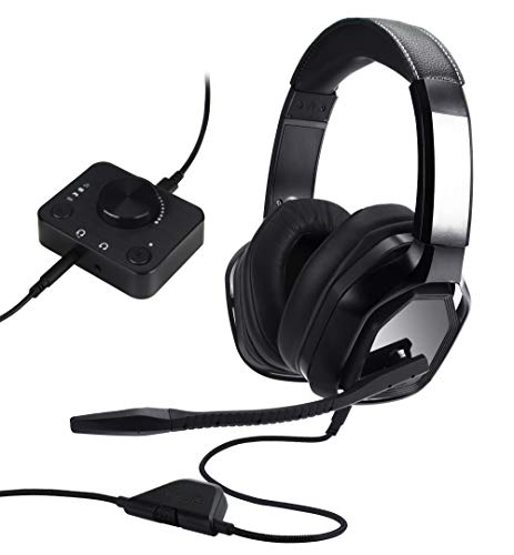 Amazon Basics Gaming Headset for PC and Consoles (Xbox, PS4) with Desktop Mixer - Black
