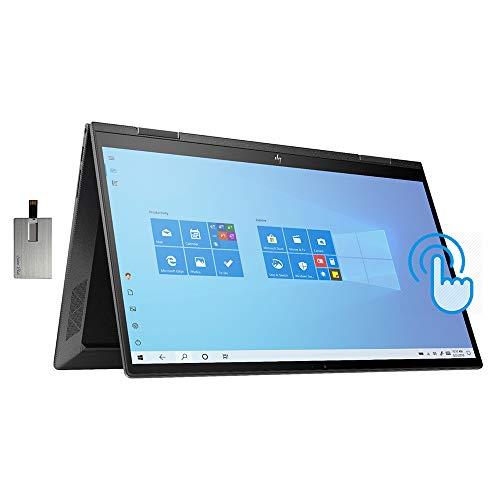 2021 HP Envy x360 2-in-1 15.6' FHD Touchscreen Laptop Computer, AMD Ryzen 7-4700U Processor, 32GB RAM, 1TB PCIe SSD, Backlit KB, B&O Audio, HD Webcam, HDMI, Windows 10, Black, 32GB SnowBell USB Card
